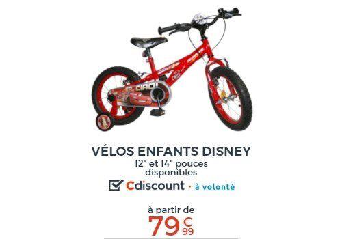 vélos enfants Disney