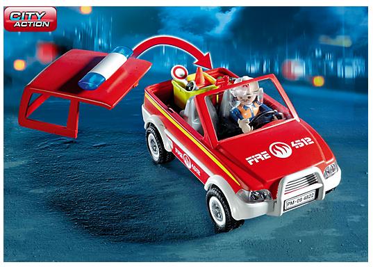 playmobil 4822 voiture de pompiers achat vente univers miniature cdiscount. Black Bedroom Furniture Sets. Home Design Ideas