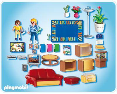 Playmobil 4282 salle de s jour achat vente univers for Playmobil salon de coiffure