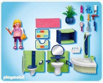 Playmobil 4285 salle de bains achat vente univers for Prix salle de bain playmobil