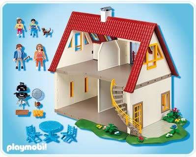 la famille playmobil vient de sinstaller en ville elle habite dans une grande maison o tout le monde y vit en harmonie - Playmobil Maison Moderne 4279
