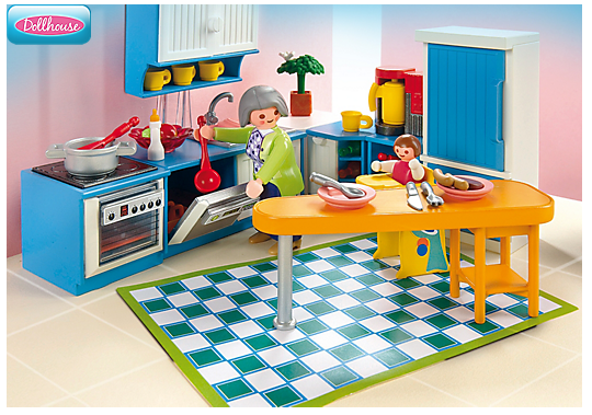 Playmobil 5329 cuisine la maison de ville 1999 pictures for Cuisine playmobil