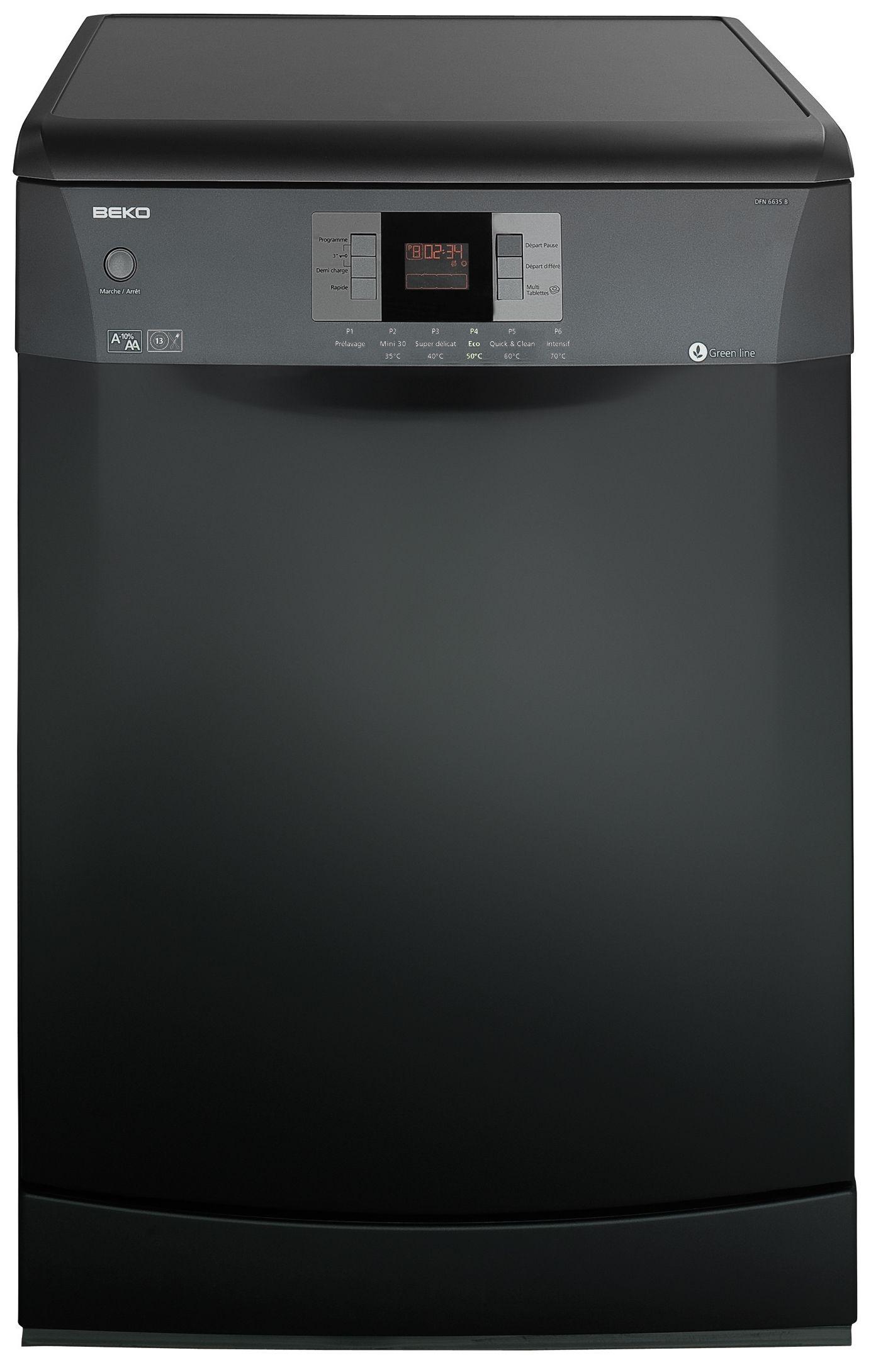 Beko dfn 6635 b lave vaisselle 13 couverts achat vente - Lave vaisselle noir brillant ...