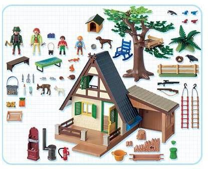 Playmobil 4207 famille animaux maison achat vente univers miniature cdiscount - Plan maison de campagne playmobil ...