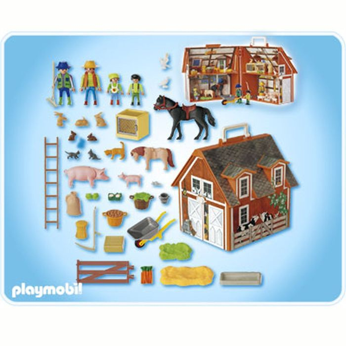playmobil 4142 ferme transportable achat vente univers. Black Bedroom Furniture Sets. Home Design Ideas