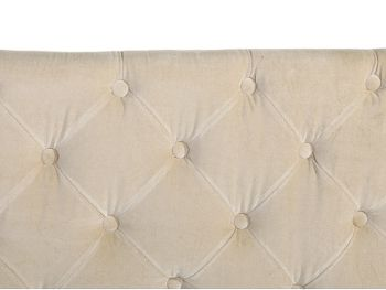 tete de lit en tissu beige