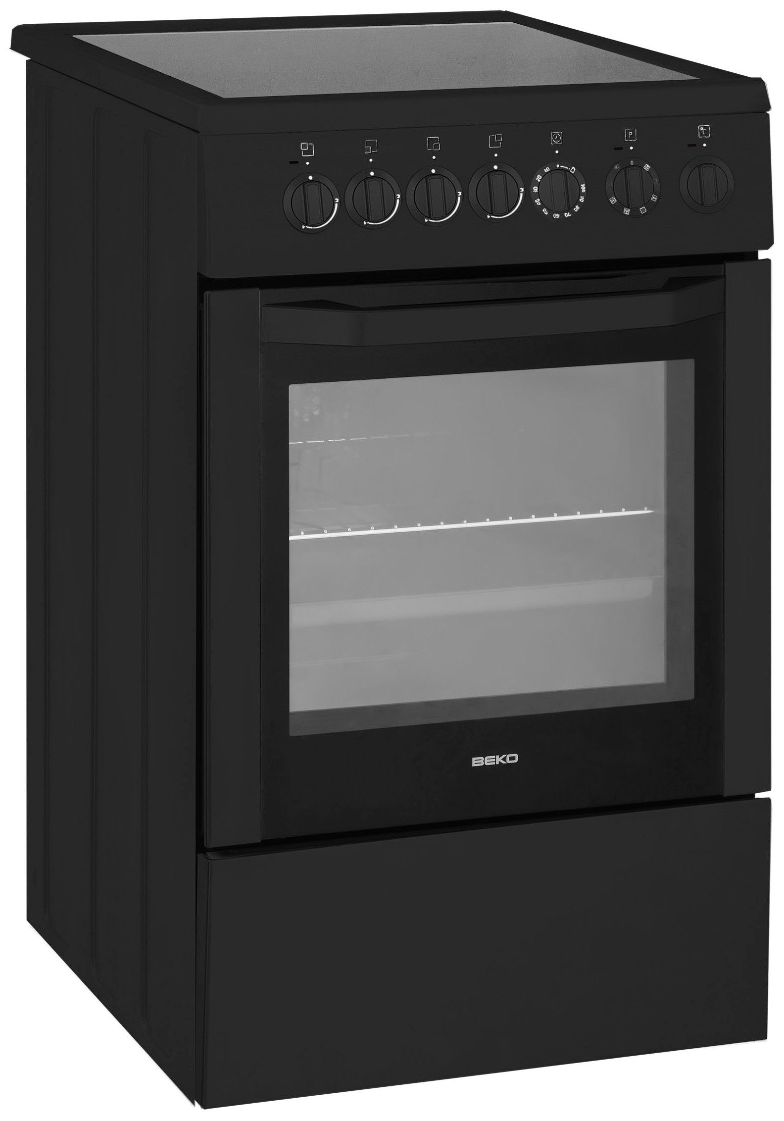 beko css57100ga cuisini re table vitroc ramique 4 foyers four lectrique catalyse 65l. Black Bedroom Furniture Sets. Home Design Ideas