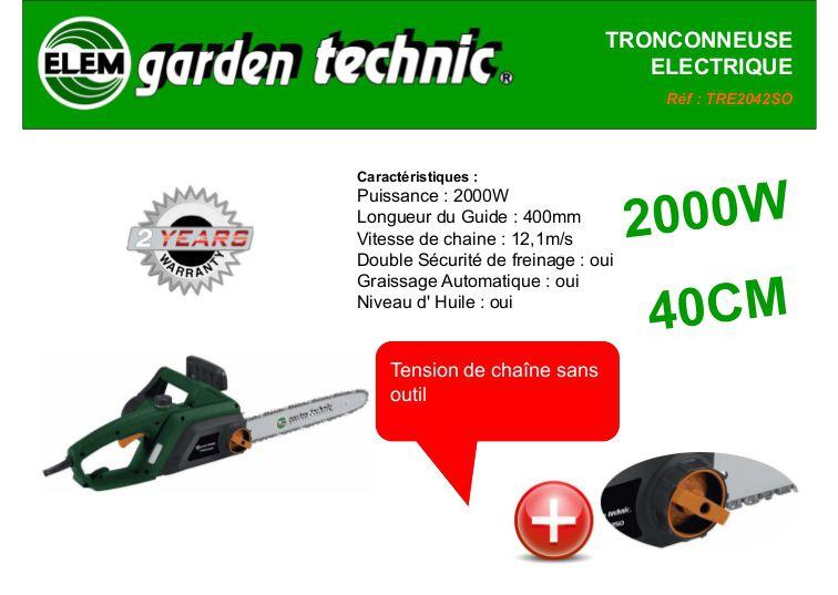Elem Garden Technic Tronçonneuse 2000w 40 Cm Achat Vente