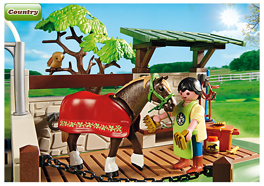 Playmobil 5225 box de soins pour chevaux achat vente figurine personnage playmobil 5225 - Douche pour chevaux playmobil ...