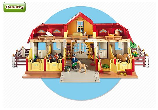 Playmobil 5221 haras avec chevaux et enclos achat - Playmobil haras ...