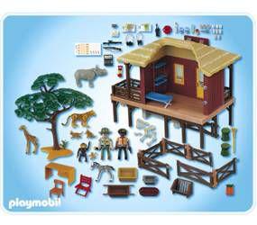Playmobil 4826 centre de soins animaux sauvages achat vente univers miniature cdiscount - Playmobile savane ...