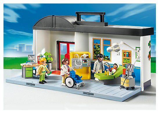 Playmobil 5953 h pital transportable achat vente for Hospital de playmobil