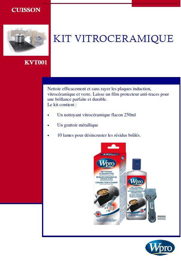 Wpro kit nettoyant vitroceramique et induction achat vente pi ce appareil cuisson soldes Vitroceramique ou induction