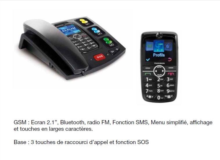 thomson serea 125 t l phone mobile avec station d accueil senior achat t l phone portable pas. Black Bedroom Furniture Sets. Home Design Ideas
