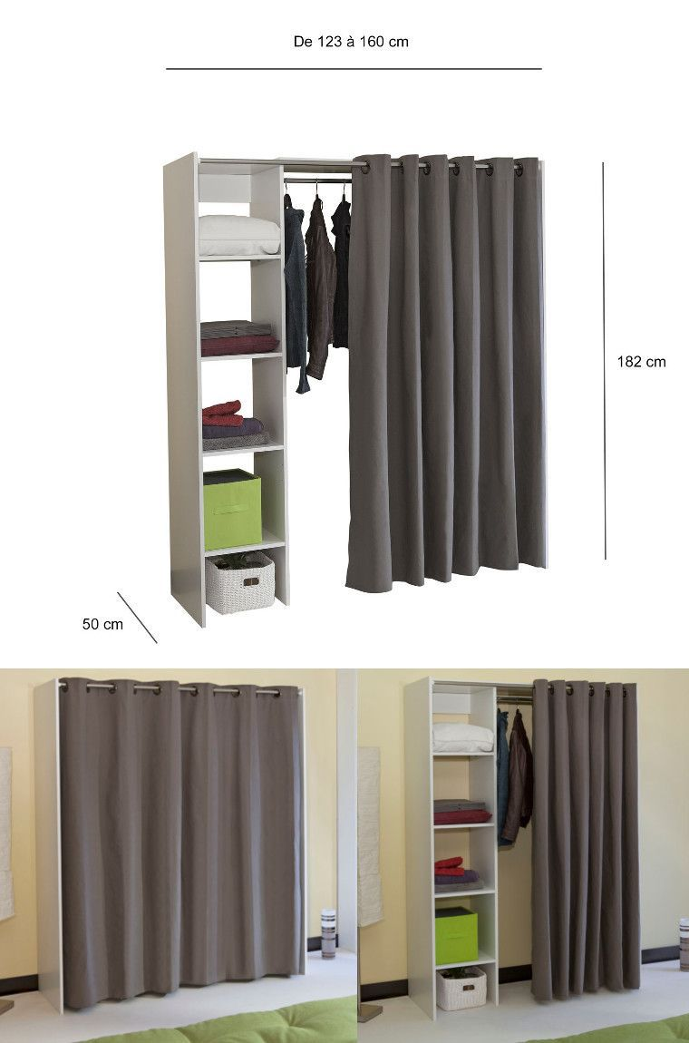 dress dressing extensible rideau achat vente dressing penderie dress dressing extensible. Black Bedroom Furniture Sets. Home Design Ideas