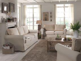 cosy canap droit 2 places 100 coton cru achat vente canap sofa divan rev tement. Black Bedroom Furniture Sets. Home Design Ideas