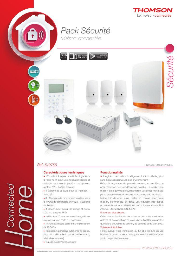thomson pack alarme maison connect e sans fil achat vente kit alarme cdiscount. Black Bedroom Furniture Sets. Home Design Ideas