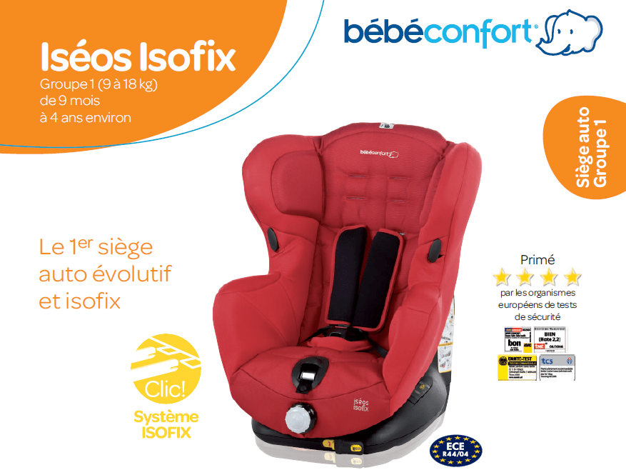 bebe confort si ge auto is os isofix gr 1 achat vente si ge auto r hausseur bebe confort. Black Bedroom Furniture Sets. Home Design Ideas