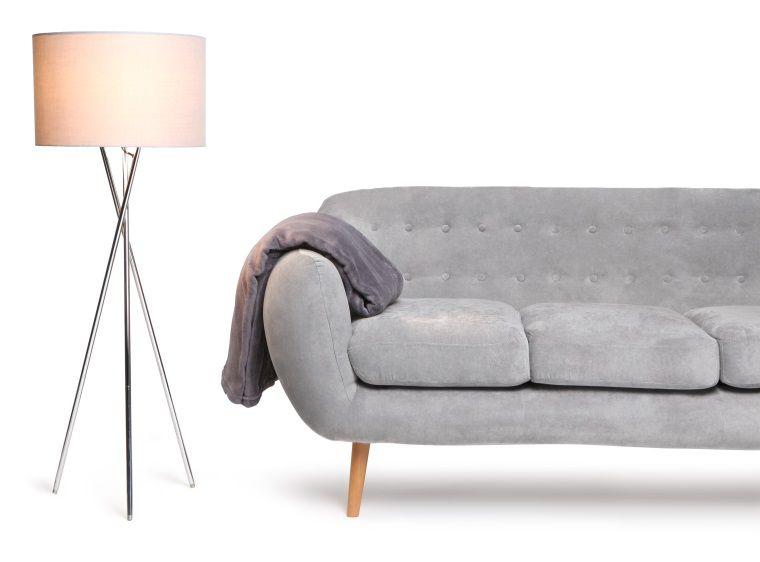 Indigo canap fixe 3 places 184x86x84 cm tissu gris clair achat vente - Canape en bois et tissu ...