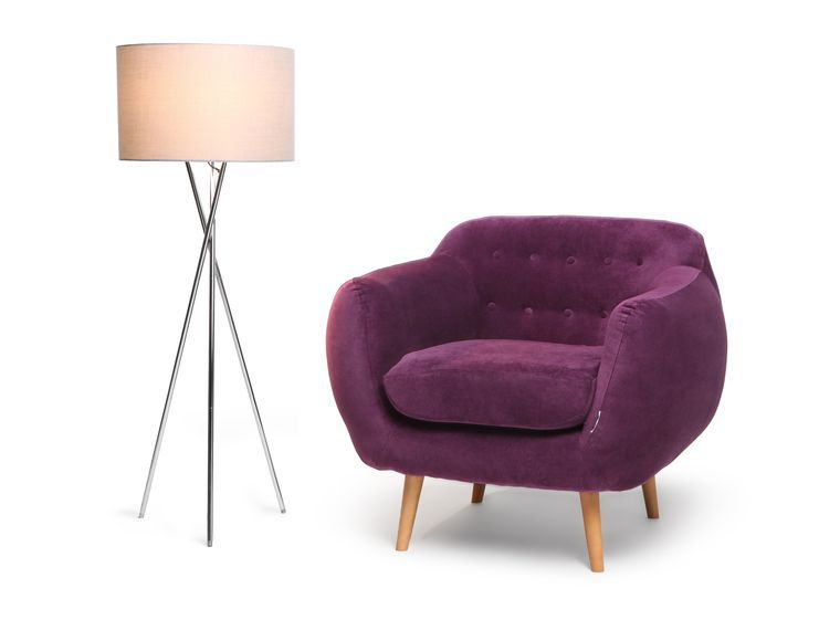 Finlandek fauteuil indigo prune achat vente fauteuil tissu cdiscount - Canape violet pas cher ...