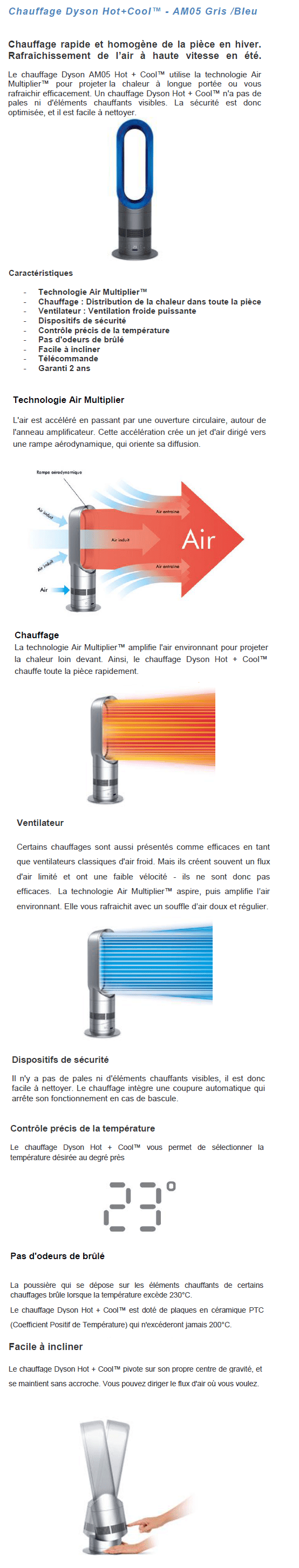 destockage dyson am05 ventilateur chauffage hot cool ventilateur au meilleur prix soldes. Black Bedroom Furniture Sets. Home Design Ideas