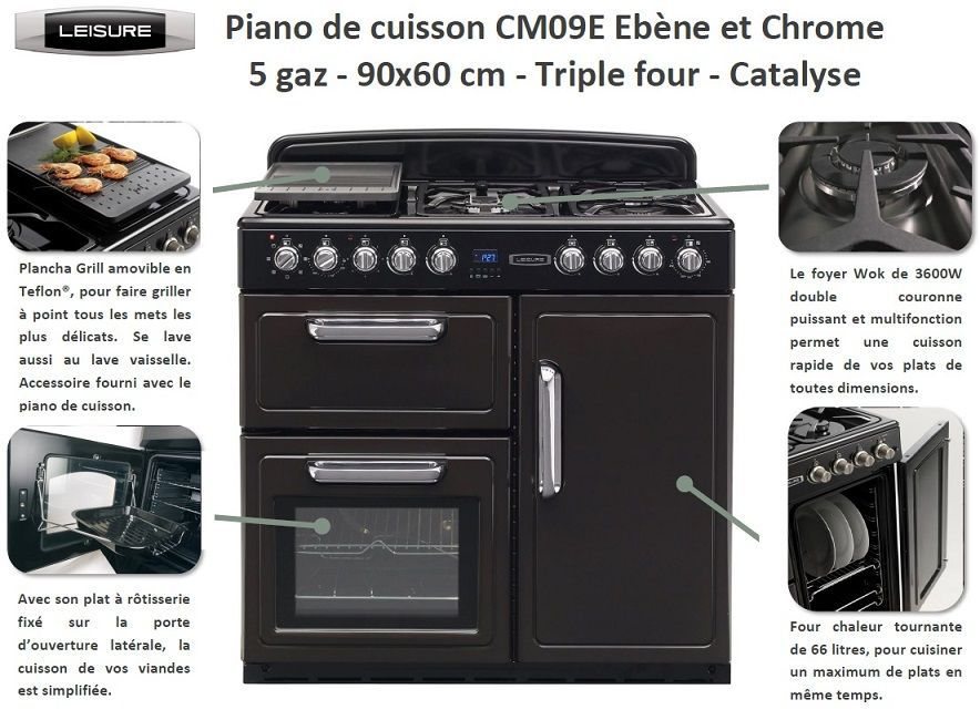 leisure cm09e piano de cuisson achat vente cuisini re piano cdiscount. Black Bedroom Furniture Sets. Home Design Ideas