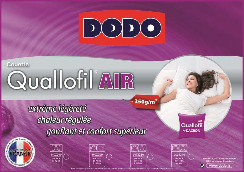 Dodo couette quallofil air 220x240cm achat vente couette cdiscount - Couette quallofil air ...