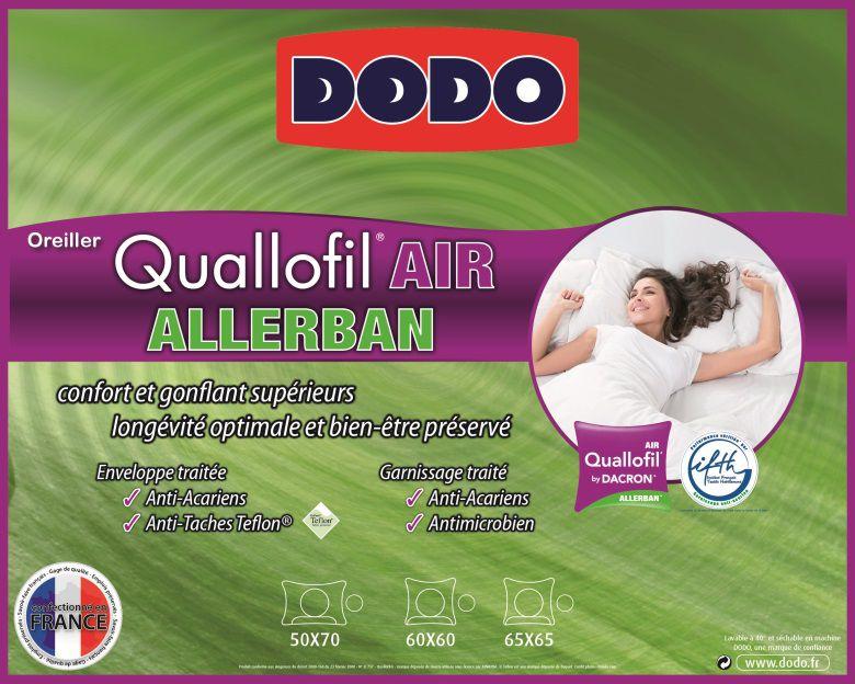 Dodo oreiller quallofil air allerban 65x65cm achat vente oreiller cdisc - Couette quallofil air ...