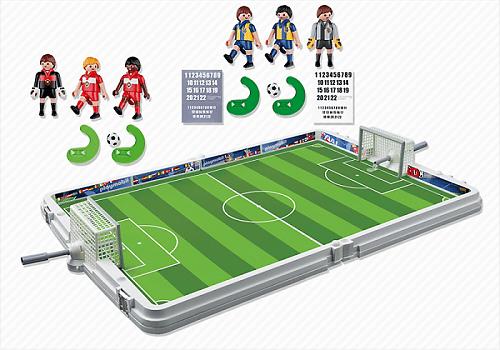 juniors jeux et jouets par type playmobil  terrain de football joueurs f pl