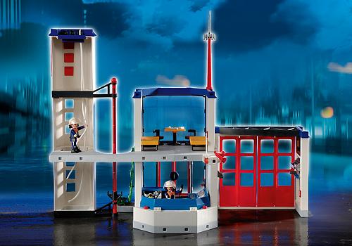 destockage playmobil 4819 caserne de pompiers univers. Black Bedroom Furniture Sets. Home Design Ideas