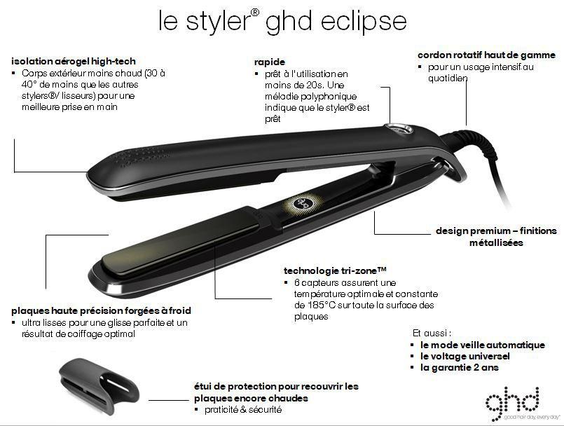 lisseur styler ghd eclipse achat vente fer a lisser cdiscount. Black Bedroom Furniture Sets. Home Design Ideas