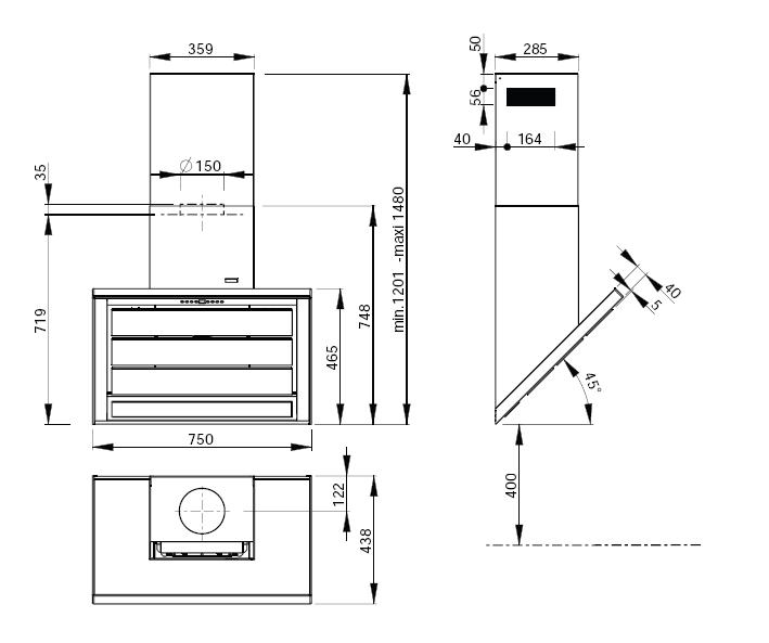 hauteur de hotte de cuisine aixen provence design