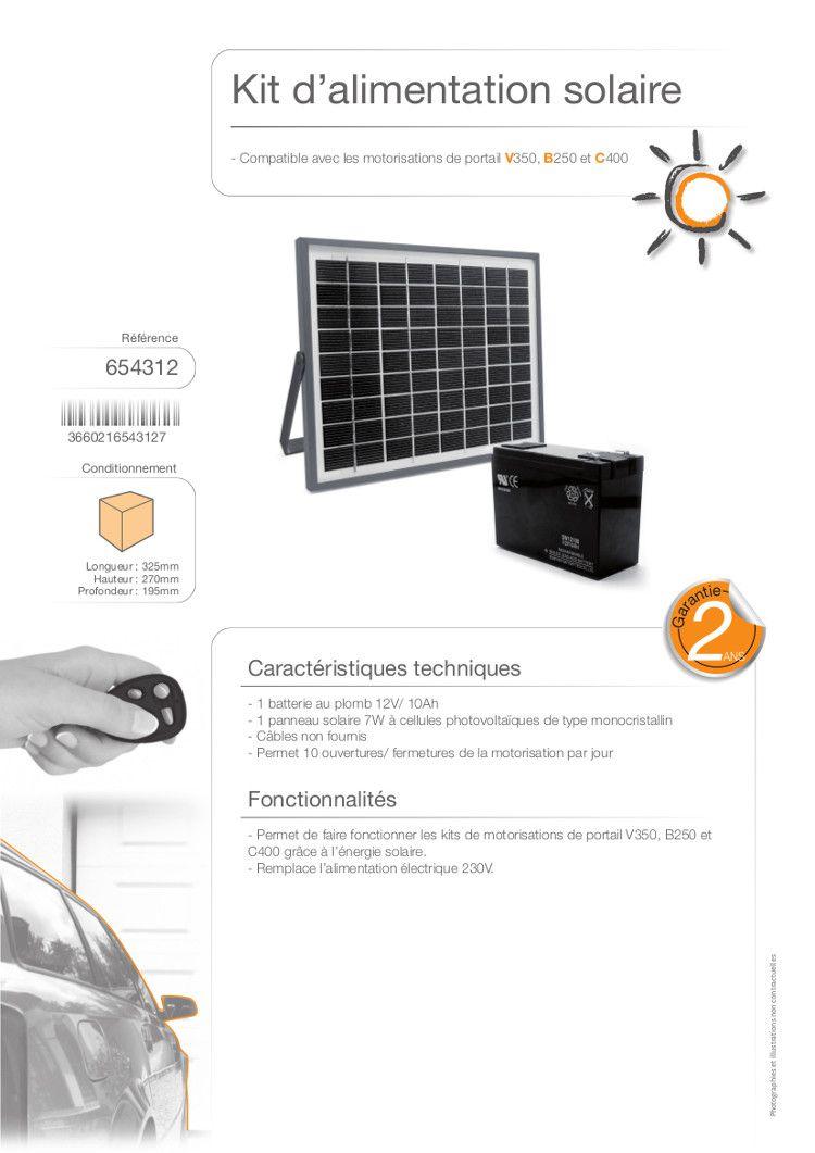 Avidsen kit d 39 alimentation solaire 654312 pour for Lampe solaire pour portail