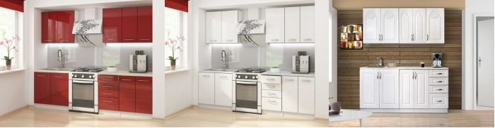 Rosa cuisine compl te blanche 1 80m achat vente for Cuisine complete blanche