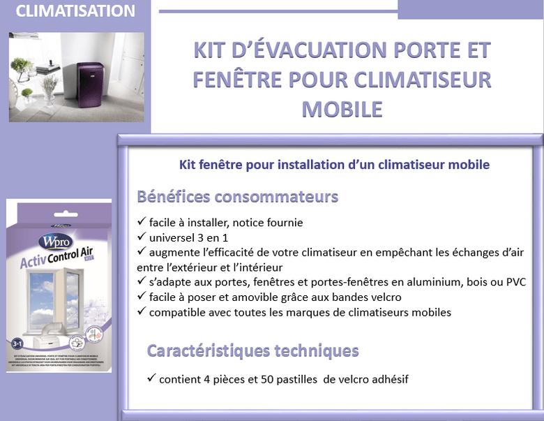 Wpro cak001 kit d 39 vacuation pour climatiseur achat vente pi ce chauf - Comment installer un climatiseur ...