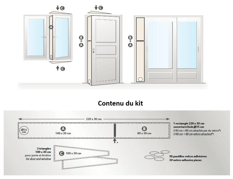 wpro cak001 kit d 39 vacuation pour climatiseur achat vente pi ce chauffage clim wpro cak001. Black Bedroom Furniture Sets. Home Design Ideas