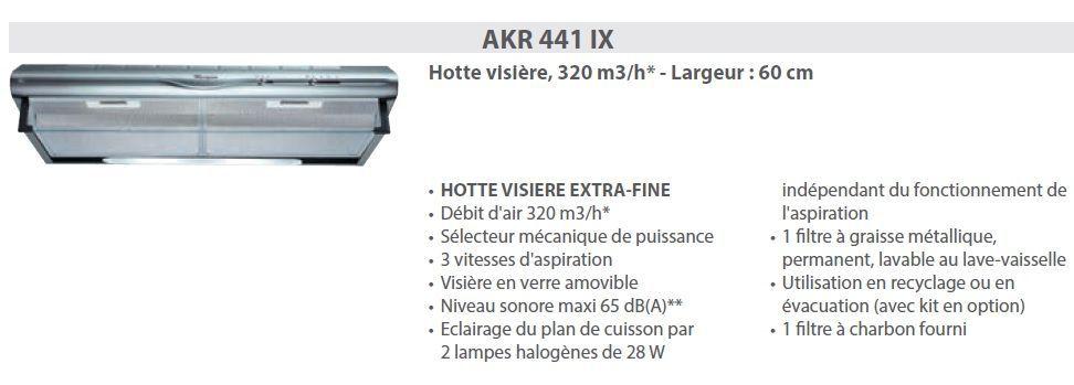 Hotte aspirante casquette whirlpool akr 441 ix - Hotte casquette whirlpool ...