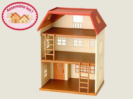 Sylvanian 2752 grande maison tradition clair e achat for Meuble maison de famille