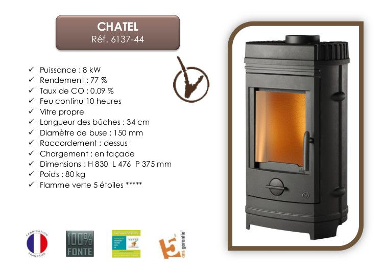 invicta po le bois chatel 8 kw achat vente po le. Black Bedroom Furniture Sets. Home Design Ideas