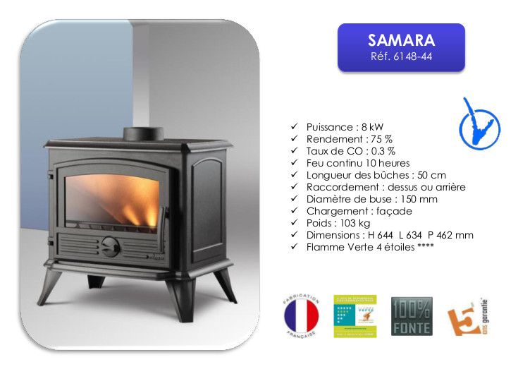 invicta po le bois samara 8 kw achat vente po le. Black Bedroom Furniture Sets. Home Design Ideas