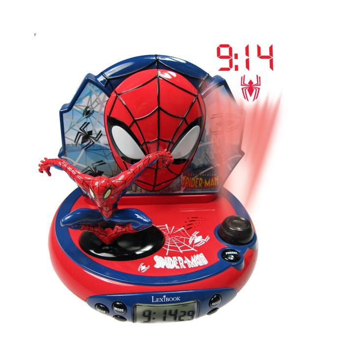 radio reveil spiderman radio reveil spiderman sur. Black Bedroom Furniture Sets. Home Design Ideas