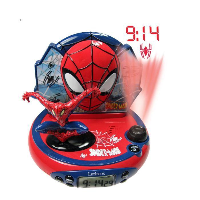 spiderman radio r veil projecteur lexibook 3380743027159 achat vente r veil enfant cdiscount. Black Bedroom Furniture Sets. Home Design Ideas