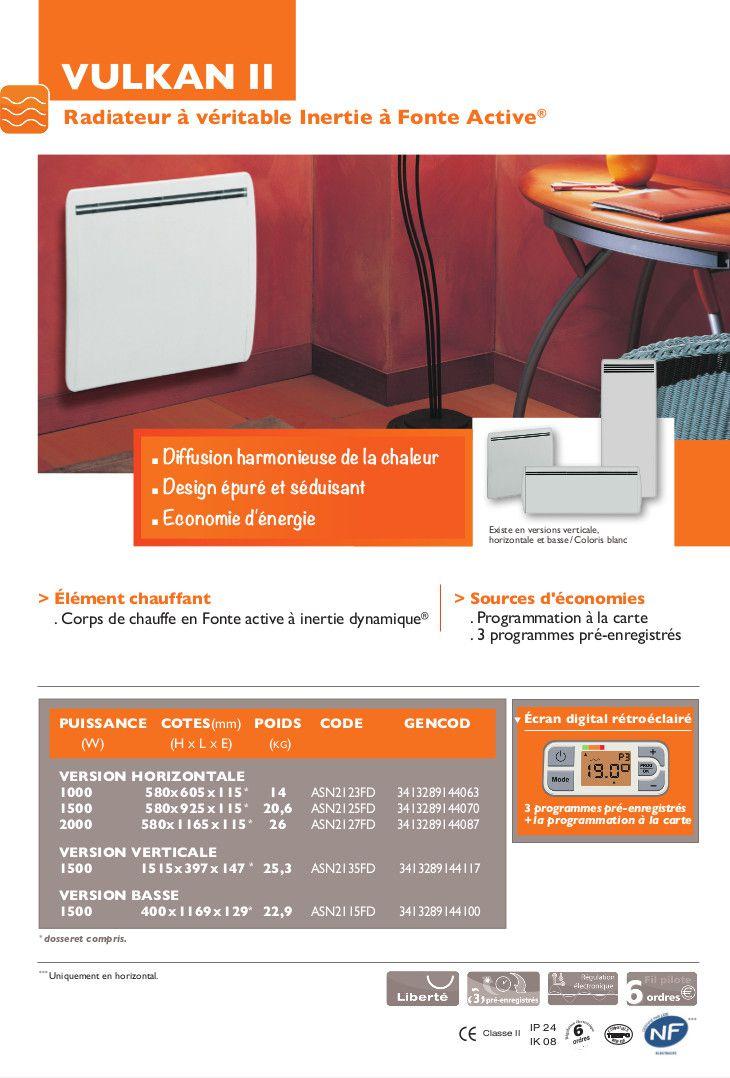 siemens vulkan ii 1500w radiateur inertie fonte achat vente radiateur panneau radiateur. Black Bedroom Furniture Sets. Home Design Ideas