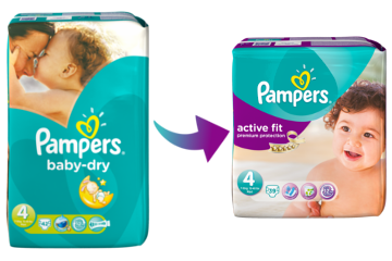 Pampers baby dry taille 4 7 18kg 174 couches vert blanc - Combien coute un paquet de couche pampers ...