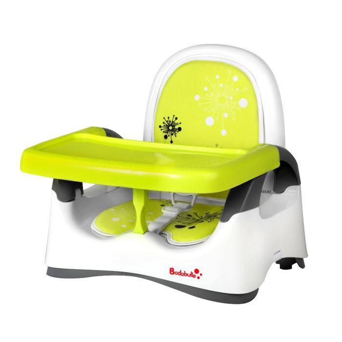 Badabulle r hausseur confort blanc vert blanc vert for Adaptateur chaise pour bb