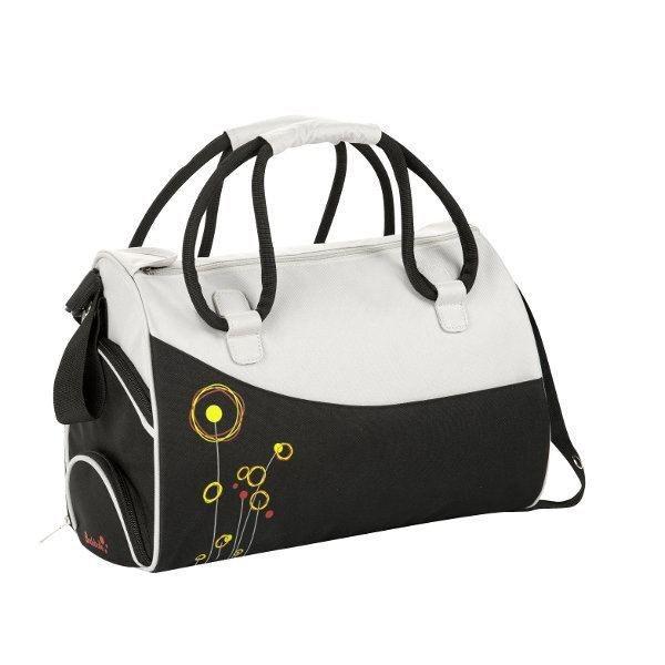 badabulle sac langer fleurs noir gris noir et gris achat vente sac langer. Black Bedroom Furniture Sets. Home Design Ideas