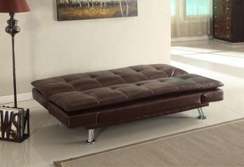 Grazia banquette clic clac convertible lit 3 places simili for Petit clic clac place