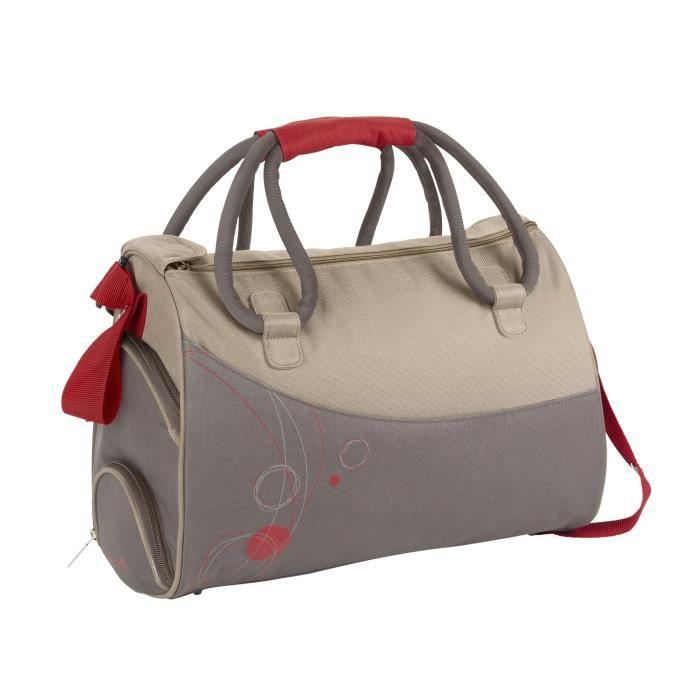 badabulle sac langer ellipses taupe rouge beige rouge achat vente sac langer. Black Bedroom Furniture Sets. Home Design Ideas