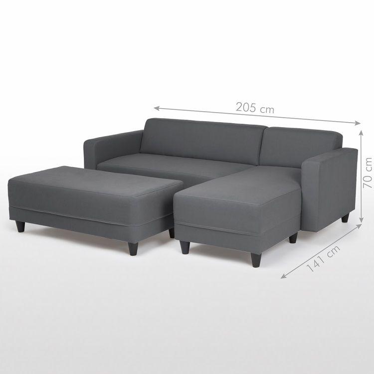 finlandek canap firr convertible lit 4 places banc 2. Black Bedroom Furniture Sets. Home Design Ideas