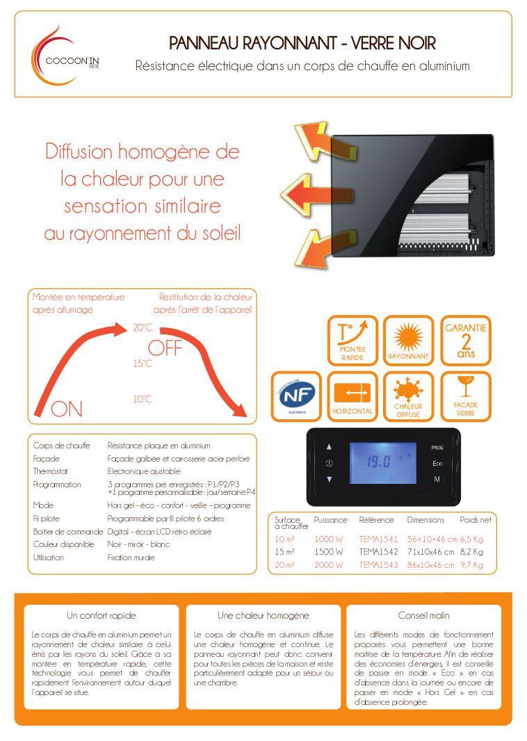 radiateur electrique panneau rayonnant verre avis 2. Black Bedroom Furniture Sets. Home Design Ideas